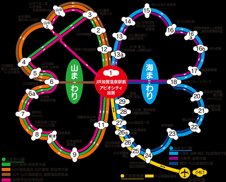 キャンバス路線図